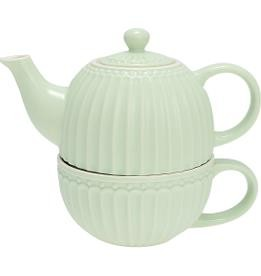 Greengate Alice pale green Tea for one Set 3-tlg.