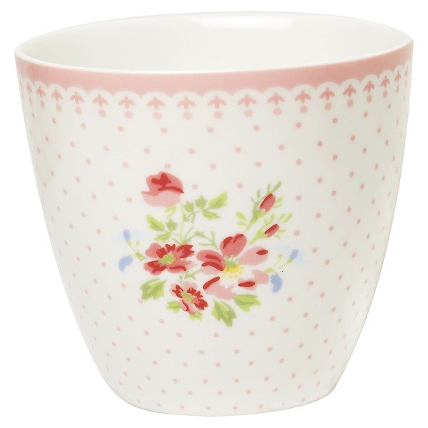 Greengate Sinja White Latte Cup