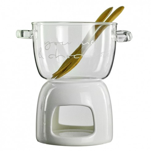 "Bastion Collections Fondue Set ""You, me & chocolate"""
