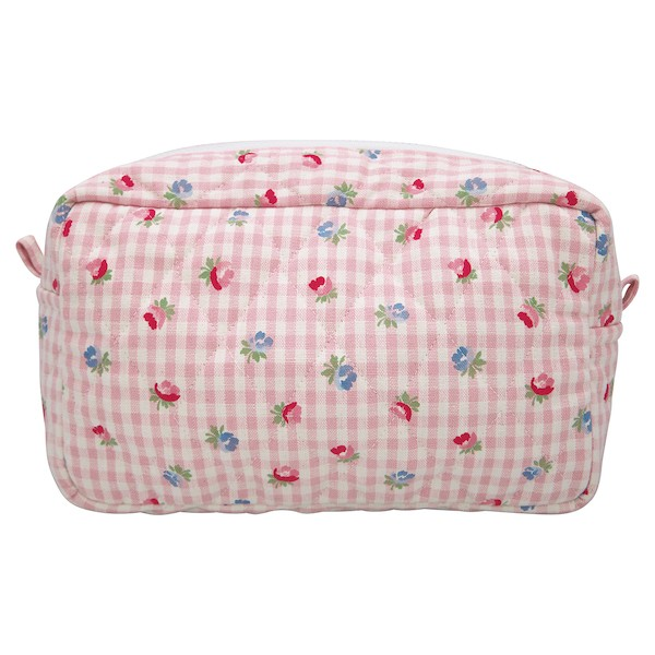 Greengate Viola Check Pale Pink Kosmetiktasche Large Quilted