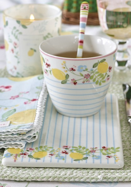 Greengate Limona white Latte Cup