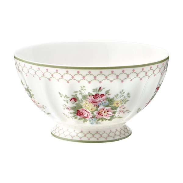 Greengate Aurelia white French bowl xlarge