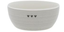 Bastion Collections Fruit Bowl Small Stripes and Hearts