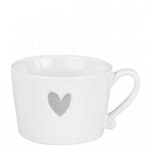 Bastion Collections Tasse Heart Grey
