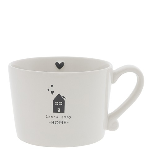 Bastion Collections Tasse Let´s stay home in black