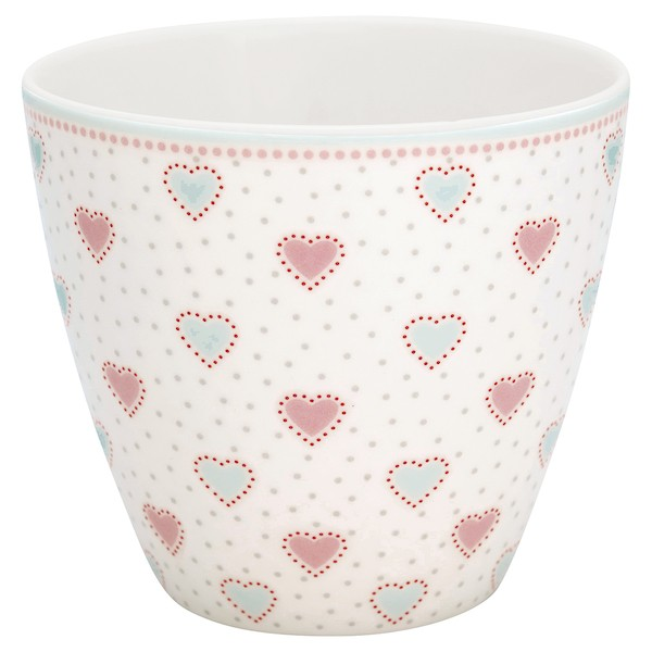 Greengate Penny White Latte Cup