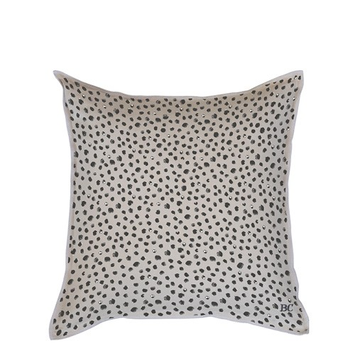 Bastion Collections Kissenhülle Naturel Chambray Happy Dots