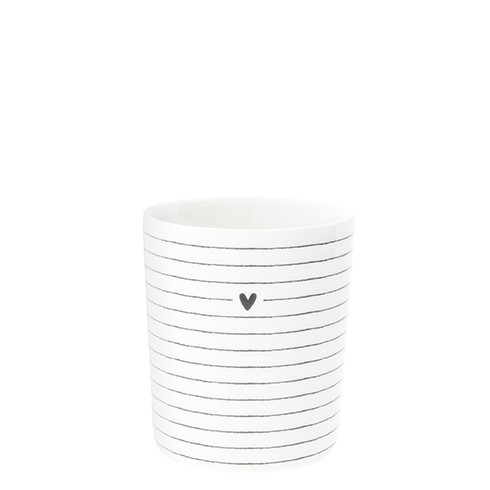 Bastion Collections Becher Heart & Stripes