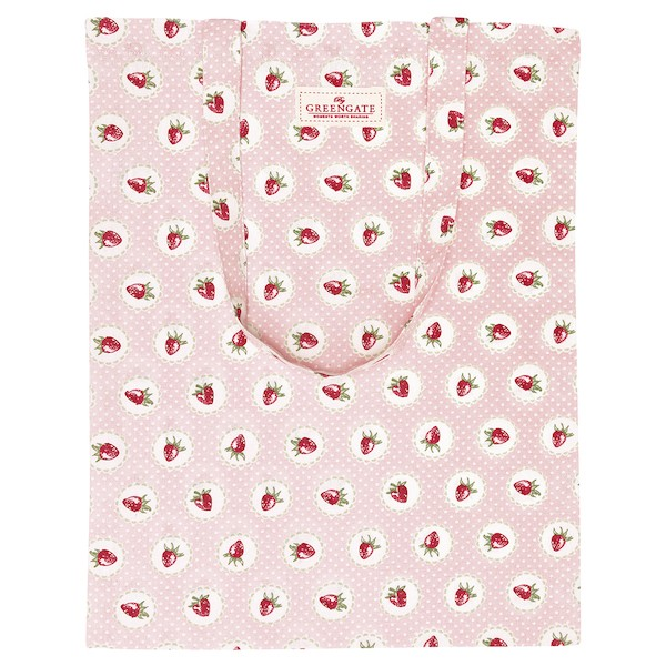 Greengate Strawberry pale pink Baumwolltasche
