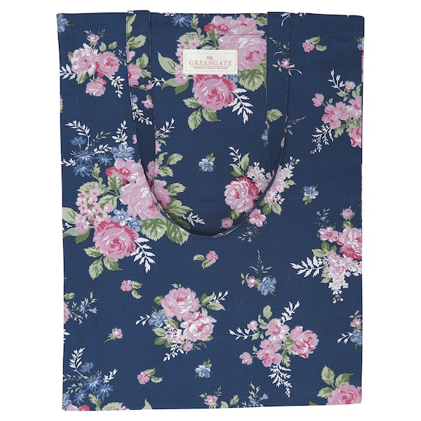 Greengate Rose dark blue Baumwolltasche