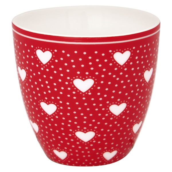 Greengate Penny Red Mini Latte Cup