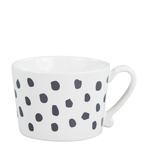 Bastion Collections Tasse Big Dots in Schwarz