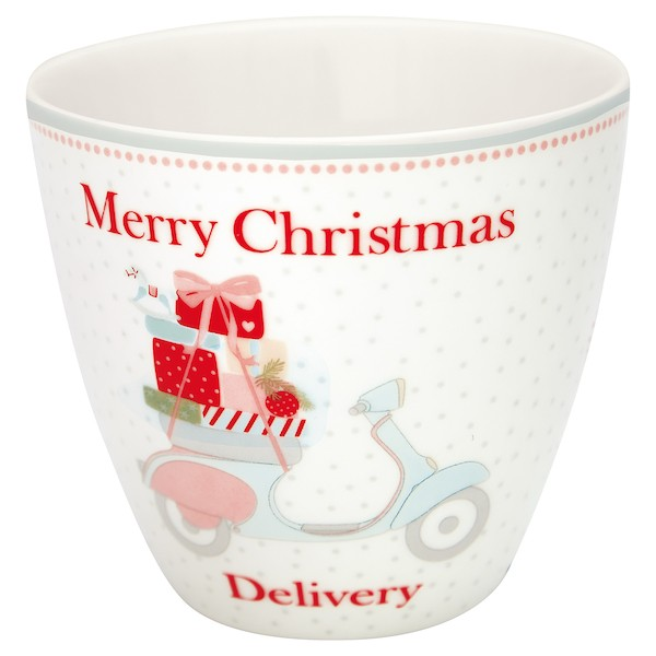 Greengate Scooter White Latte Cup