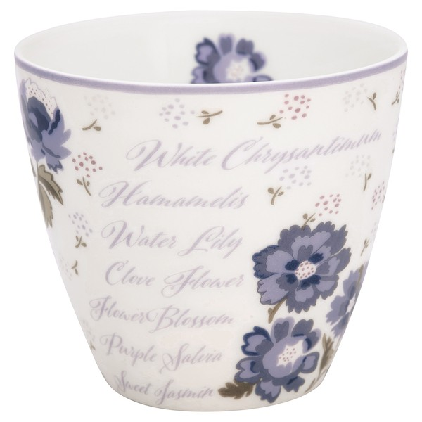 Greengate Beatrice White Latte Cup