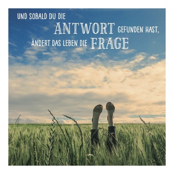 """Postkarte Square One """"Antwort/Frage"""""""