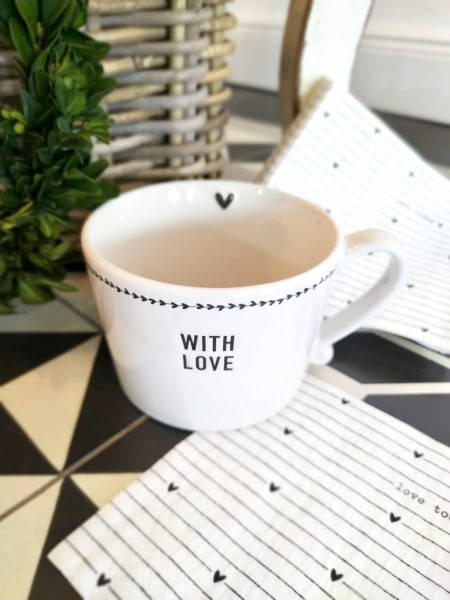 DAILY OFFER 20.3.20 Bastion Collections Set Tasse With Love & Papierservietten