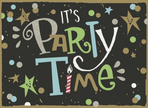 """Postkarte """"It´s Party Time"""""""