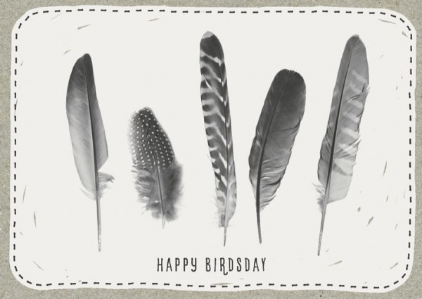"Postkarte ""Happy Birdsday"""