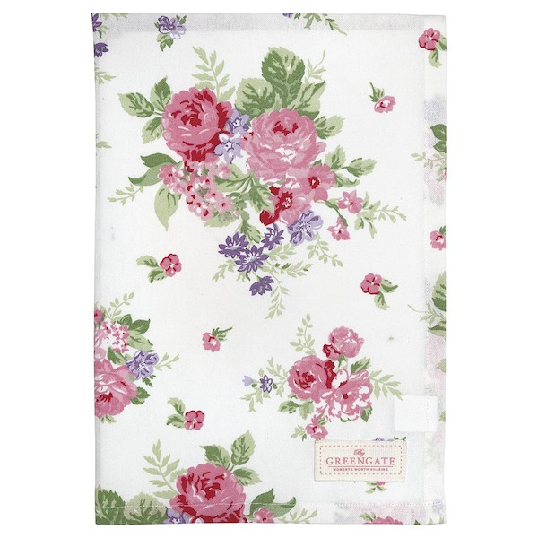 Greengate Rose white Geschirrtuch
