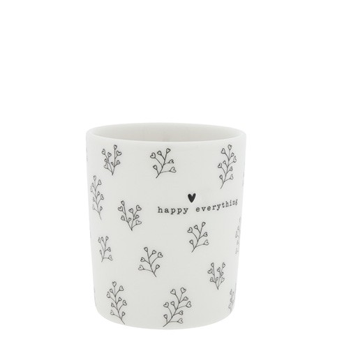 Bastion Collections Becher Blumen Herzen in Schwarz